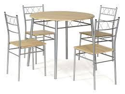 Ensemble Table Ronde Et 4 Chaises De Cuisine Lota Coloris Gris