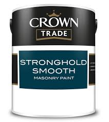 Crown Masonry Paint Colour Chart Crown Trade Stronghold Smooth Masonry Paint