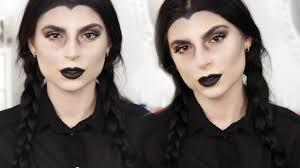 wednesday addams grunge makeup tutorial