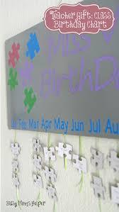 Teacher Birthday Chart Teacher Gift Class Birthday Chart