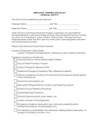 Employee Training Checklist Templates At