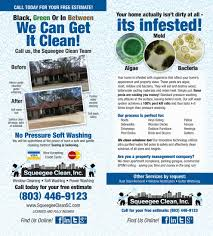 soft pressure washing deck concrete siding squeegee clean gutter cleaning middot special flyer