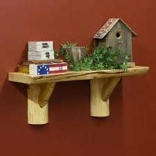 cedar lake wall mounted rustic shelf