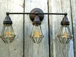 industrial vanity light fixtures bathroom black pipe lighting lights rustic ligh