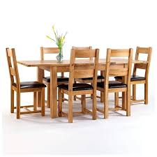 rustic oak dining table and 6 chairs extending arctic white black glass