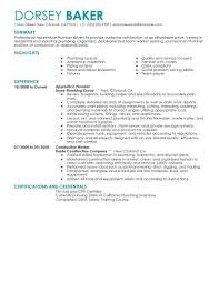 Apprentice Sample Resumes Best Apprentice Plumber Resume Example LiveCareer 13