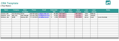 Free Excel Crm Template Analyze Your Business Relationship