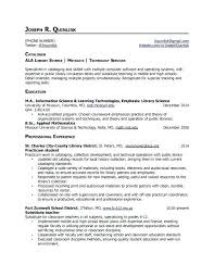 Public Librarian Cover Letter Resume Bank