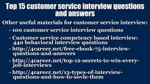 Top 15 Customer Service Interview Questions And Answers Video