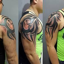 24 Tribal Shoulder Tattoo Designs Ideas Design Trends Premium