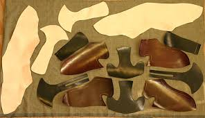 custom leather shoe upper pieces