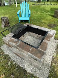 beautiful diy fire pit w grill insert