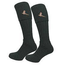 Bisley Size Chart Bisley Pheasant Breek Socks In Green Or Tweed