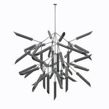 spur pendant light grande chandelier 3d model max fbx 6