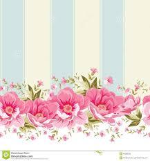 Flower Pink Wallpaper Border Background
