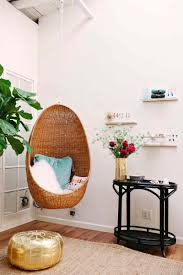 Furniture:Modern Hanging Chair With Egg Style Completed By Red Pillow Diy Hanging  Chair For