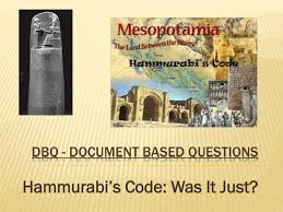 dbq hammurabi`s code com