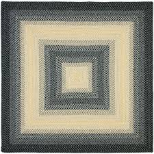 safavieh braided black grey 8 ft x 8 ft square area rug
