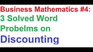 business math business math 4 discounting 3 solved word problems examples
