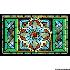 horizontal stained glass panels suitable combine craftsman mission panel large framed sta