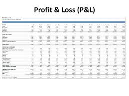 Monthly Profit And Loss Statement Profit Loss Statement In Excel Income Template Monthly And