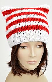 Santa Hat Pattern Custom Candy Cane Hat Lollipop Christmas Hat Knitting Pattern Candy Cat Hat