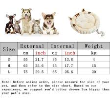 Pet Bed Size Chart Comwarm Pet Dog Cat Bed Nest Winter Warm Soft Round Design Small Dog House Sofa Mat Cat Lounge Cat Bed Washable Bed For Cats