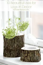 10 Beautiful Uses for Logs in Decor ---- see log vases, log