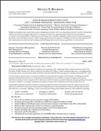 General Manager Resume Sample Page 1