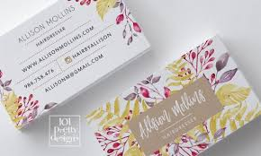 Paper Flower Business Floral Business Card Design Flowers Business Card Template Printable