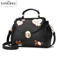 yingpei cat and dog animal prints women messenger bags cross bag famous brands designer woman leather handbags purses designer purses satchel