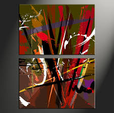 Small Picture 2 Piece Colorful Abstract Home Decor Artwork