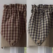 Park Designs Curtains And Valances Town And Country Point Valance Wine Or Black