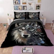 quilt sets modern grey king quilt cover elegant 3d wolf bedding set animal duvet cover