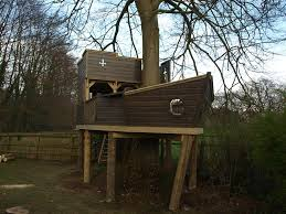 wooden treehouse ship