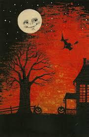 aceo <b>print</b> of painting raven crow skull <b>gothic halloween</b> ryta vintage ...