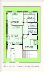 House plans for x   sqft   west facing enterence    Floor plan for West House plans for x   sqft   west facing enterence