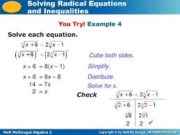 example 4 solve each equation cube both sides x 6