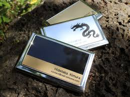 engrave a gift name put the business card holder