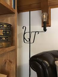 Hood Creek Log Cabin Wrought Iron Floor Lamp Makeover