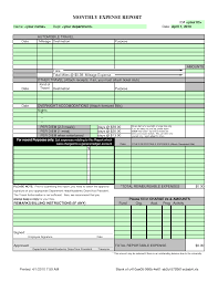 Monthly Expense Report Template Small Business Monthly Expense Report And Template Sample Vlashed 4