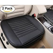 senarai harga teekeer edge wrapping car front seat cover 2pcs universal breathable pu leather bamboo charcoal auto office interior seat protector cushion