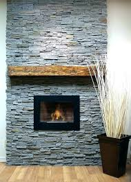 faux stacked stone fireplace fake burning wood for ideas c photos on all about fireplaces installing ston