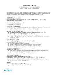 Criminal Justice Resume Examples Sample Criminal Justice Resume