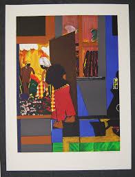 open door painting. Romare-Bearden-The-Open-Door-Signed-1979-Lithograph- Open Door Painting S
