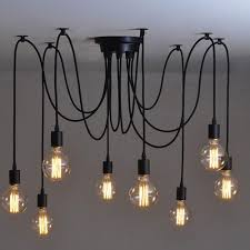 edison lights industrial style home lighting vintage loft chandelier fixtures diy lamps with 8 heads hanging in kitchen from industrial style home lighting t94 lighting
