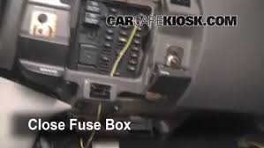 interior fuse box location 1997 2004 ford f 150 1999 ford f 150 5 test component secure the cover and test component 6
