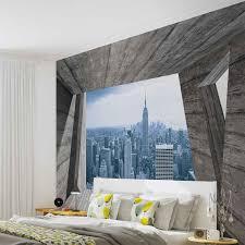 New York Skyline Wallpaper For Bedroom Window City New York Skyline Empire Photo Wallpaper Mural 3142wm