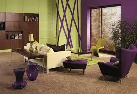 Purple Green And Brown Living Room