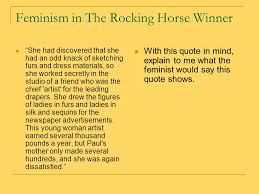 the rocking horse winner ppt video online  feminism in the rocking horse winner